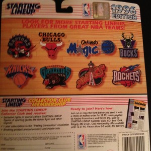 1996 Starting Lineup Toy Figure back