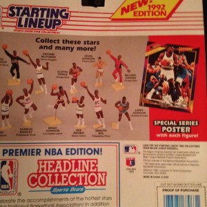 1992 NBA Starting Lineup Back Manute Bol