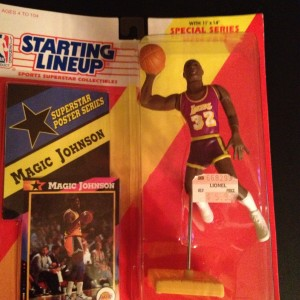 Magic Johnson LA Lakers Kenner Starting Lineup Toy