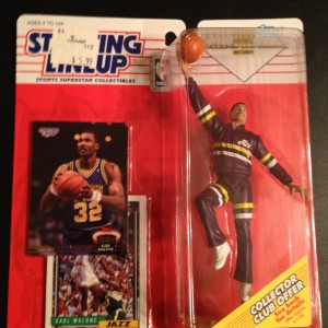 Karl Malone Utah Jazz 1993 Starting LIneup toy figure