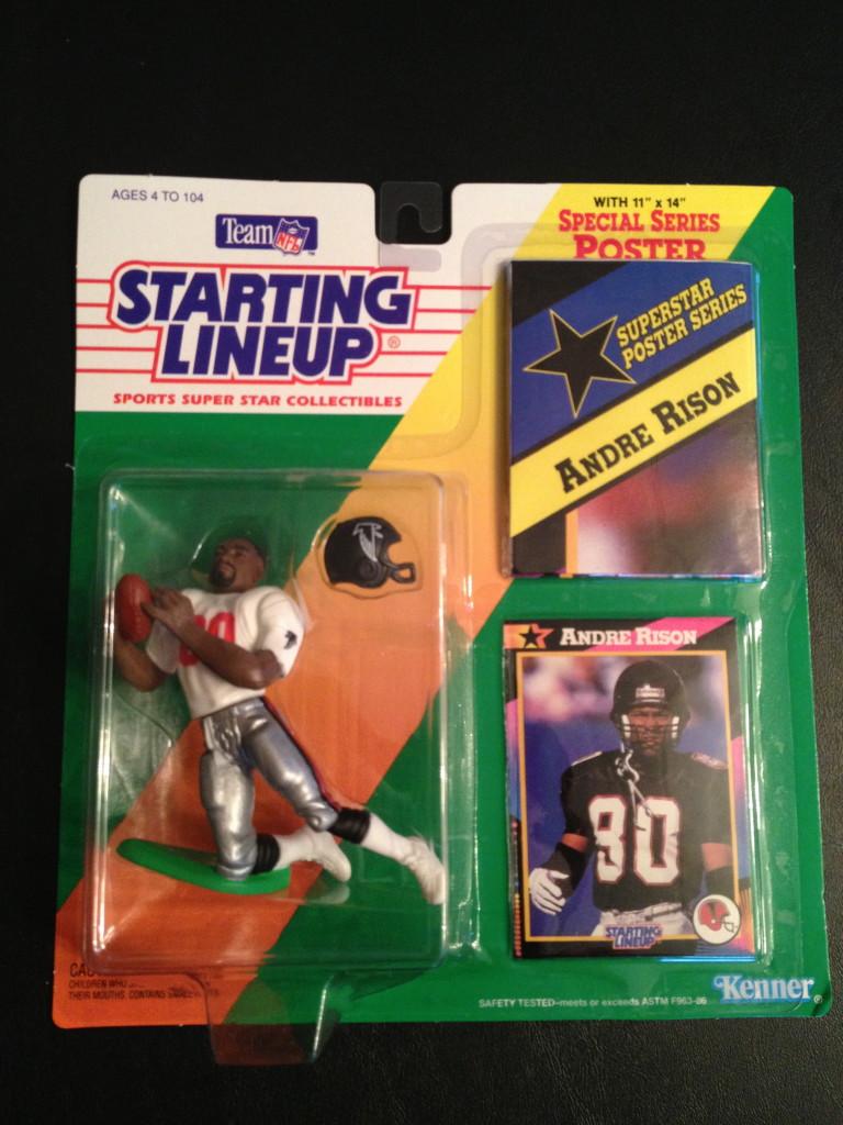 1992 Andre Rison Atlanta Falcons Starting Lineup Toy Figure   Rare Vntg