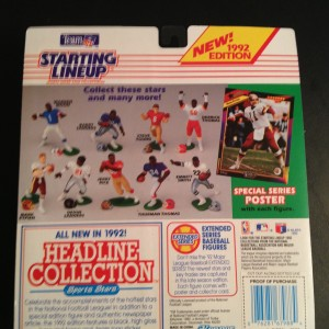 1992 Starting Lineup NFL Back