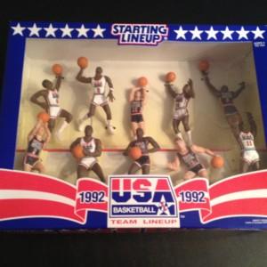 1992 Team USA Dream Team Olympic Basketball Starting lineup Set