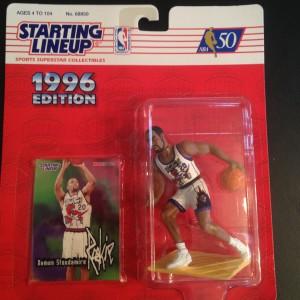 Toronto Raptors Damon Stoudamire 1996 starting lineup toy figure