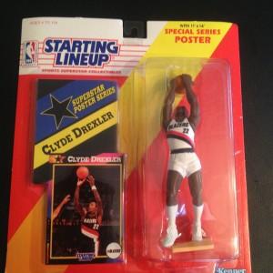 Clyde Drexler Portland Trailblazers Kenner Starting Lineup toy nba