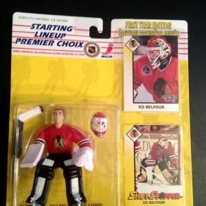 Ed Belfour Chicago Blackhawks starting lineup toy figure