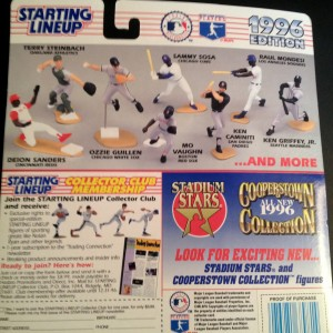 1996 MLB Starting lineup toy figure back