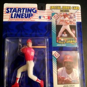 1993 John Kruk Philadelphia Phillies mlb starting lineup toy figure