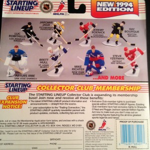 1993 NHL Starting Lineup Kenner Hasbro