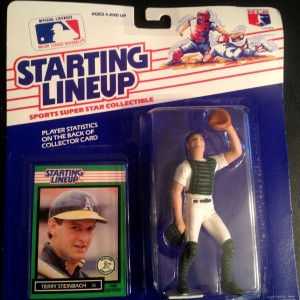 Terry Steinbach Oakland A's 1989 starting lineup toy figure