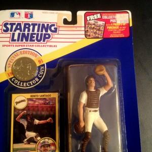 1991 Benito Santiago San Diego Padres mlb starting lineup toy figure