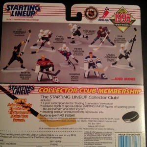 1995 NHL Starting lineup toy back