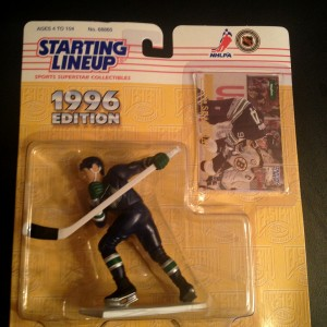 Brendan Shanahan Hartford Whalers 1996 starting lineup toy figure blue jersey