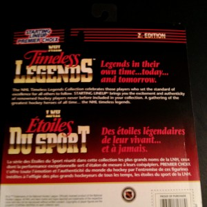 1997 nhl starting lineup timeless legends candian edition back
