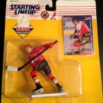 1995 Theoren Fluery Calgary flames nhl starting lineup toy