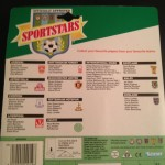 1989 Sports Stars Soccer Starting Lineup back