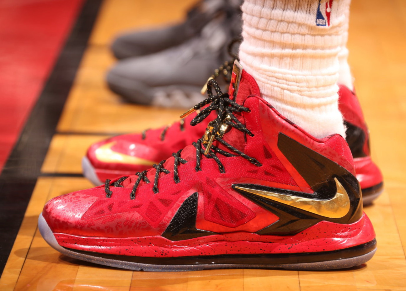 Lebron Wins his 2nd Title, Celebrate with the Nike Lebron ...  Lebron 10 Championship Red