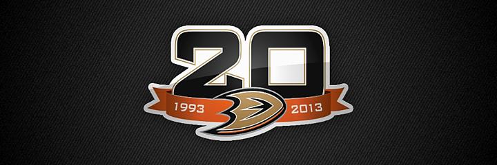 Anahiem mighty ducks 20th anniversary
