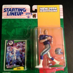 1994 Rick Mirer Seatte Seahawks starting lineup toy figure