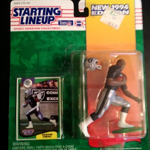 1994 Raghib Ismail Los Angeles raiders starting linep toy figure