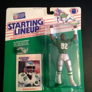 1988 Reggie white philadelphia eagles starting lineup toy figure