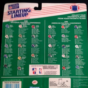 1988 Kenner starting lineup toy nfl back