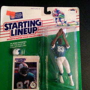 1988 Mark Clayton Miami Dolphins starting lineup toy