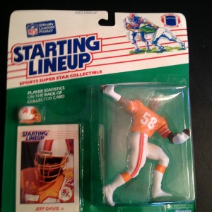 1988 Tampa bay buccaneers jeff davis starting lineup toy figure