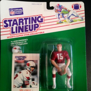 1988 Neil Lomax arizona cardinals starting lineup toy figure