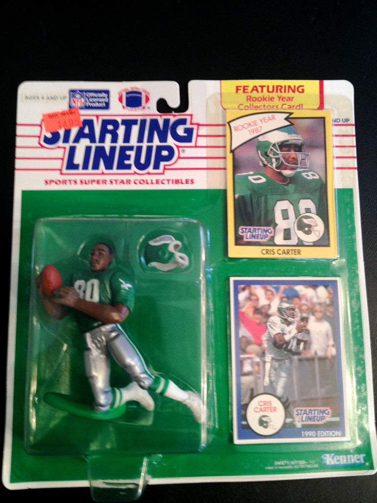 separation shoes 05a45 2ab18 1990 Chris Carter Philadelphia Eagles Starting Lineup Toy Figure