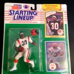 1990 ickey woods cincinnati bengals starting lineup toy