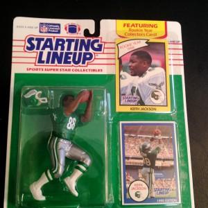 1990 keith jackson philadelphia eagles starting lineup toy figure