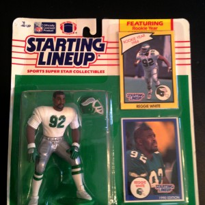 1990 reggie white philadelphia eagles starting lineup toy figure