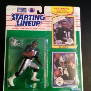 1990 bo jackson la raiders starting lineup toy figure