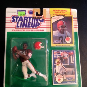1990 Webster slaughter cleveland browns starting lineup toy figure