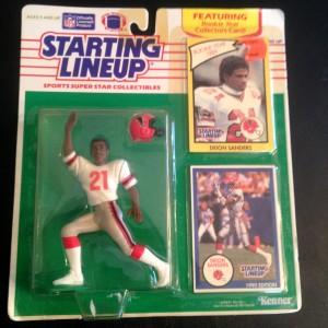 1990 deion sanders atlanta falcons starting lineup toy figure