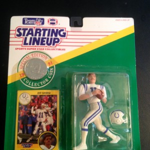 1991 jeff george indianapolis colts starting lineup toy