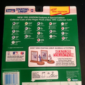1991 nfl kenner hasbro starting lineup back of package