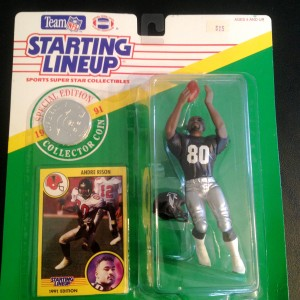 1991 andre rison atlanta falcons starting lineup toy