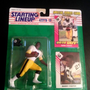 1993 barry foster pittsburgh steelers starting lineup toy figure