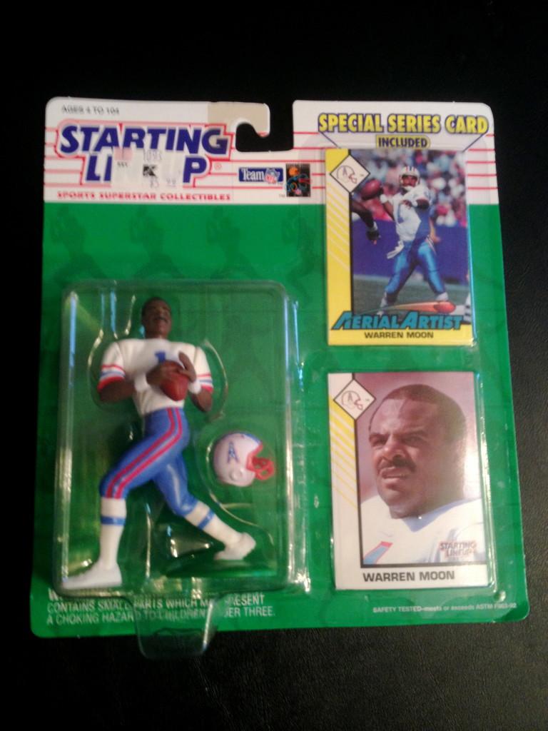 Figurki akcji i z filmów Sport Starting Lineup 1995 NFL Warren Moon figurine and card