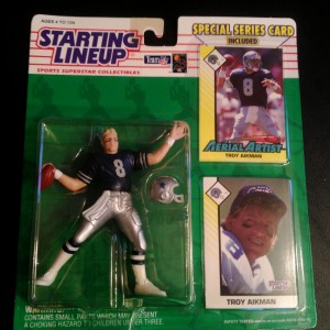 1993 troy aikman dalla cowboys starting ilneup toy