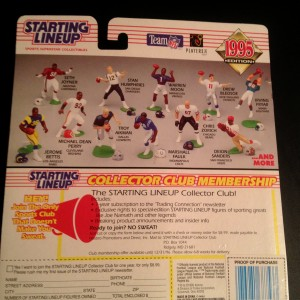 1995 kenner hasbro nfl starting lineup toy package back