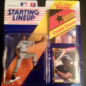 1992 chicago white sox frank thomas starting lineup toy figure