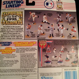 1995 kenner hasbro starting lineup cooperstown collection package back