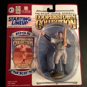 1995 babe ruth new york yankees starting ilneup toy figure