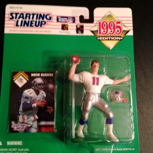 1995 drew bledsoe new england patriots starting lineup toy