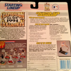 1993 kenner hasbro mlb cooperstown collection toy package back