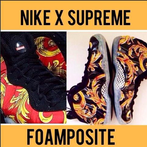 Nike x Supreme Foamposite sneakers 2013 release date information