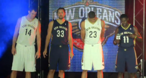 new orelans pelicans new uniforms 2014